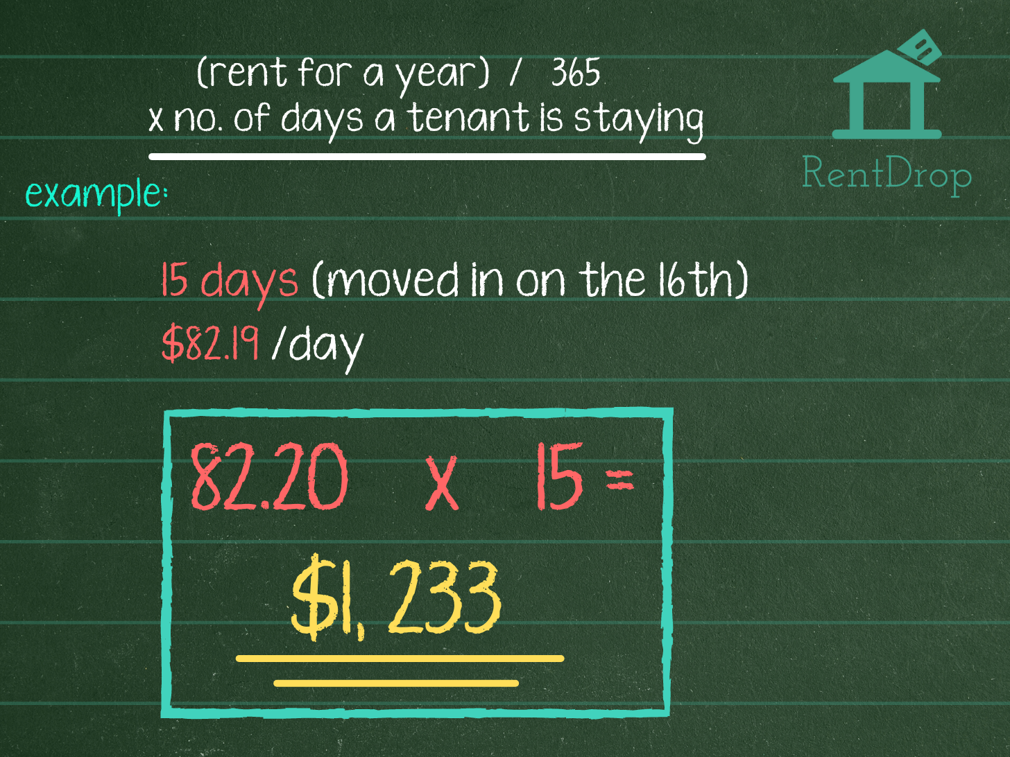 prorated rent calculation