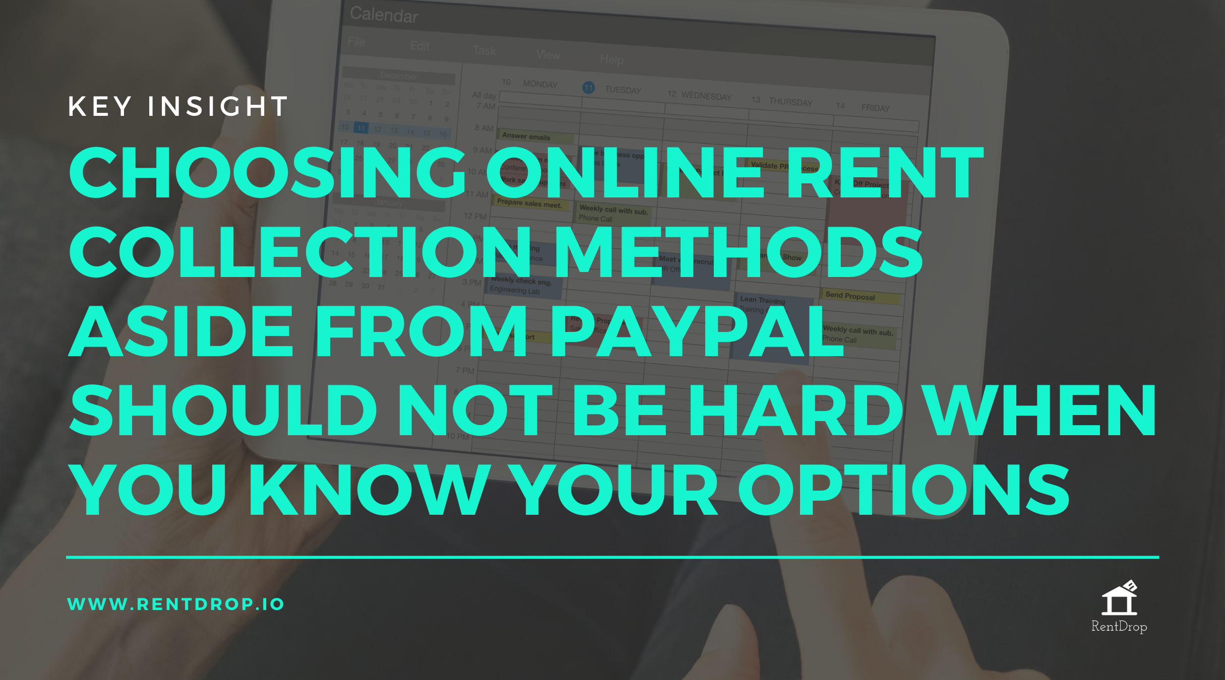 RentDrop Paypal collecting rent online quote image