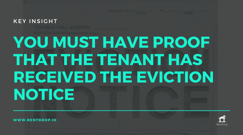eviction notice proof tenant rentdrop