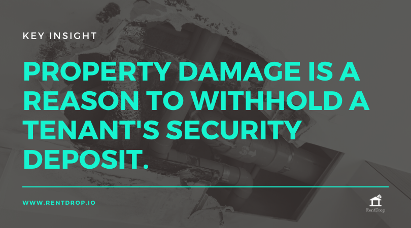 security deposit withhold damage rentdrop